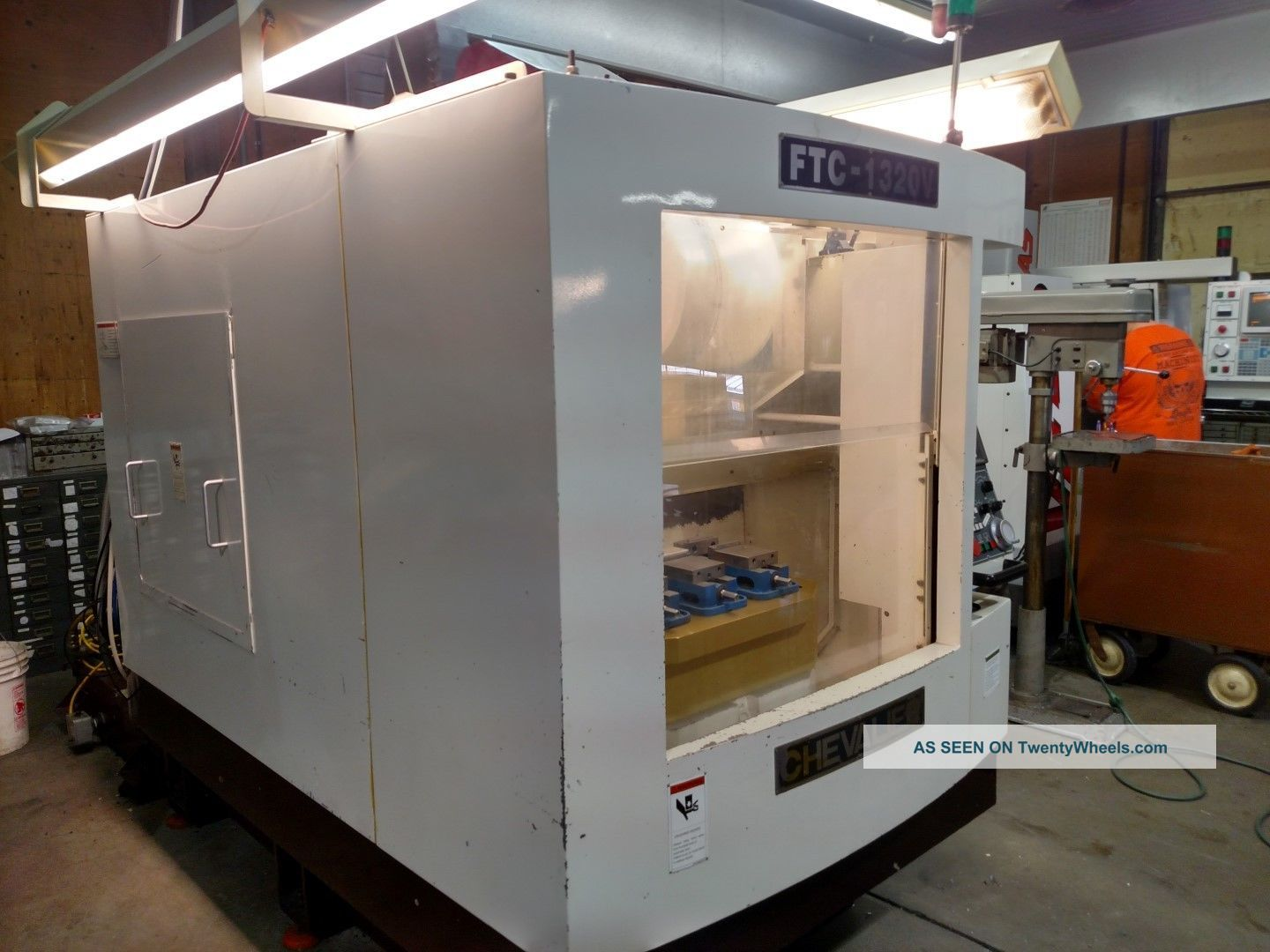 2002 Chevalier Ftc - 1320v Cnc Rotating Drill And Tap Center Veritcal Mill Milling Machines photo