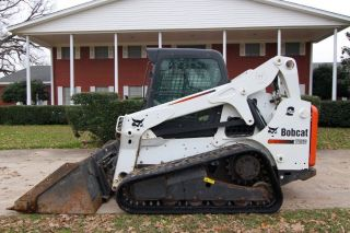 2012 Bobcat T650 Cab Skid Steer Loader,  2 - Speed,  Ac/heat,  Only 1407 Hrs photo