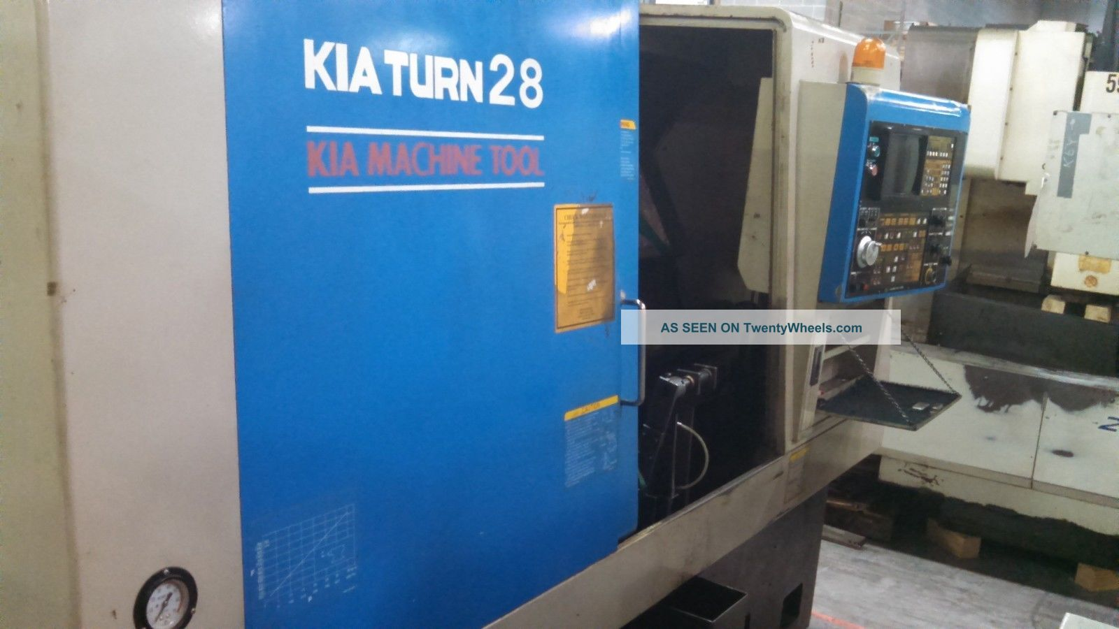 1996 Kia Turn 28 Cnc Turning Center Lathe Yasnac Lx - 3 10