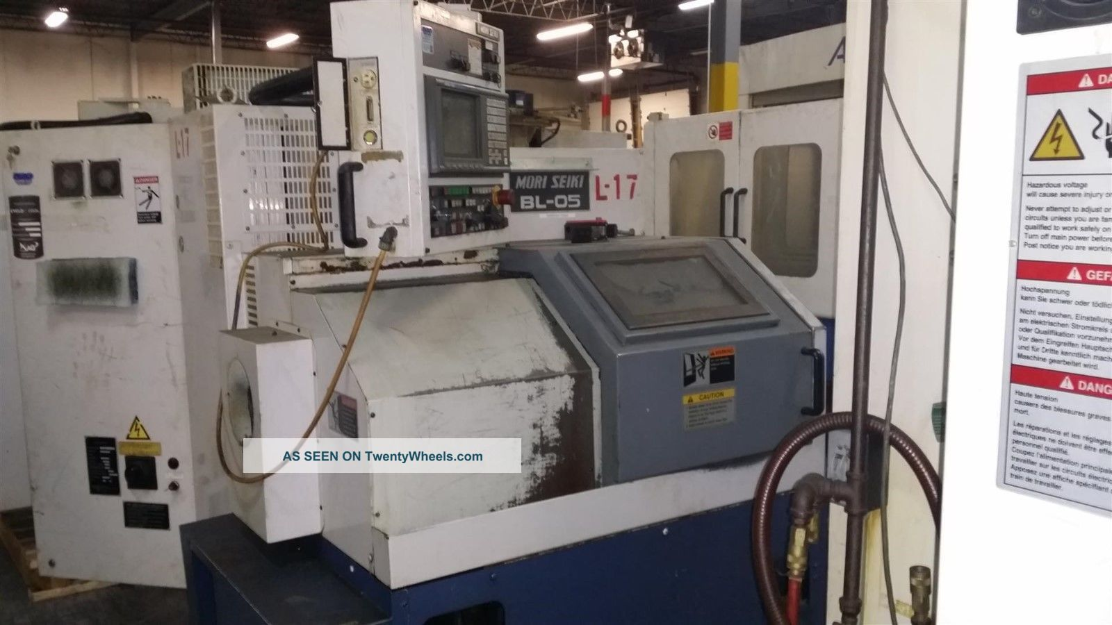 Mori Seiki Bl - 05 Cnc Gang Tool Turning Center Msc - 521 Chip Conveyor 1997 Metalworking Lathes photo