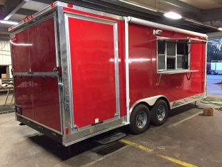 8.  5 X 20 Bbq Enclosed Trailer Fully Loaded photo