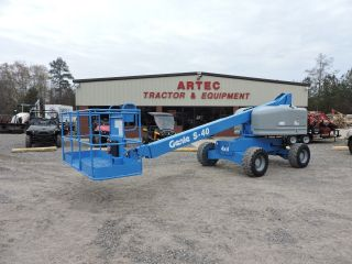 2008 Genie S40 Boom Lift - 40 ' Reach - 8 ' Basket - 4x4 - Diesel Engine photo