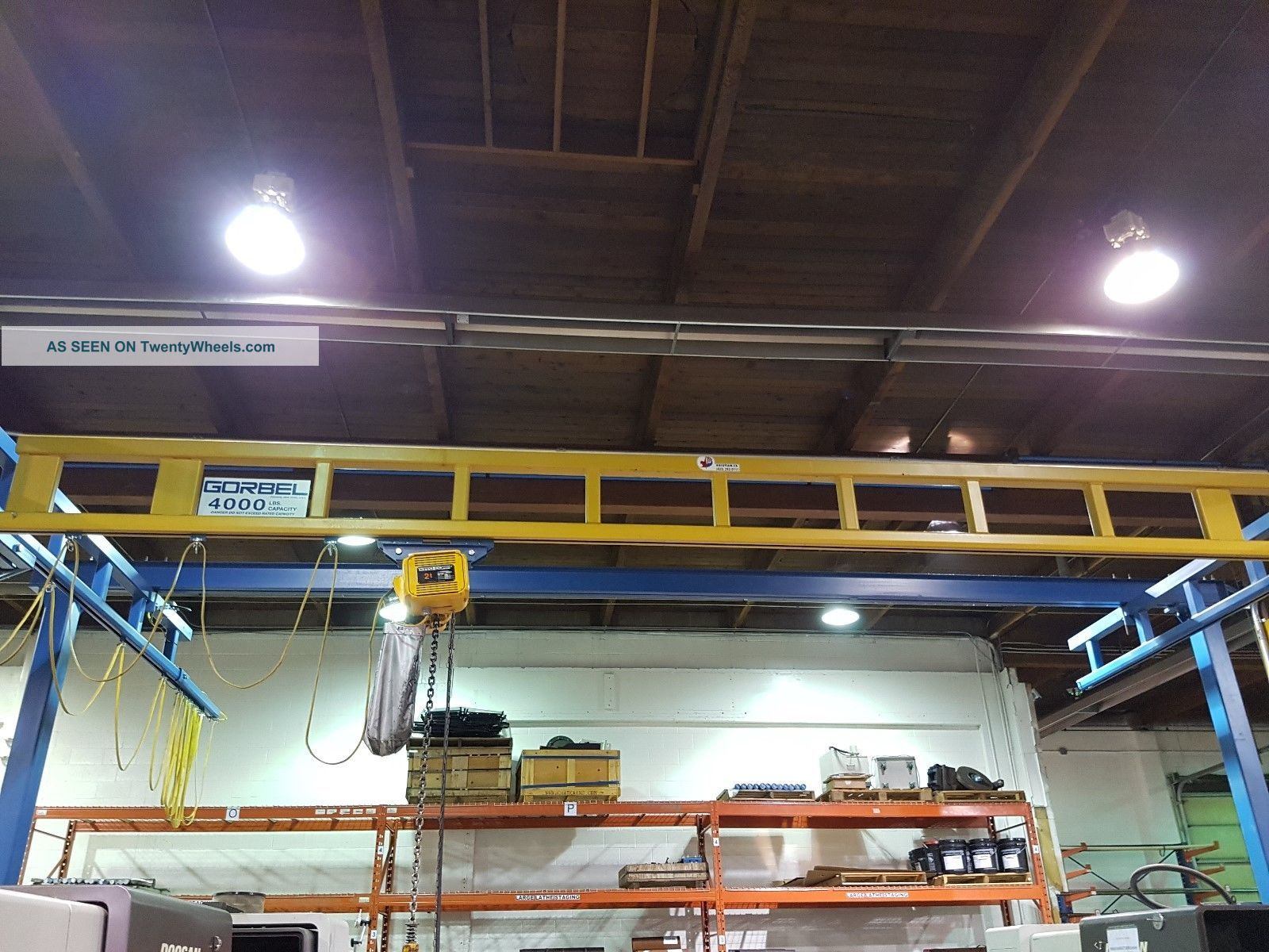 Gorbel Standing Bridge Crane System With 4000 Ib Crane Metalworking Lathes photo