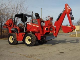 2003 Ditch Witch Rt90h Vibratory Cable Plow W Backhoe Attach John Deere Diesel photo