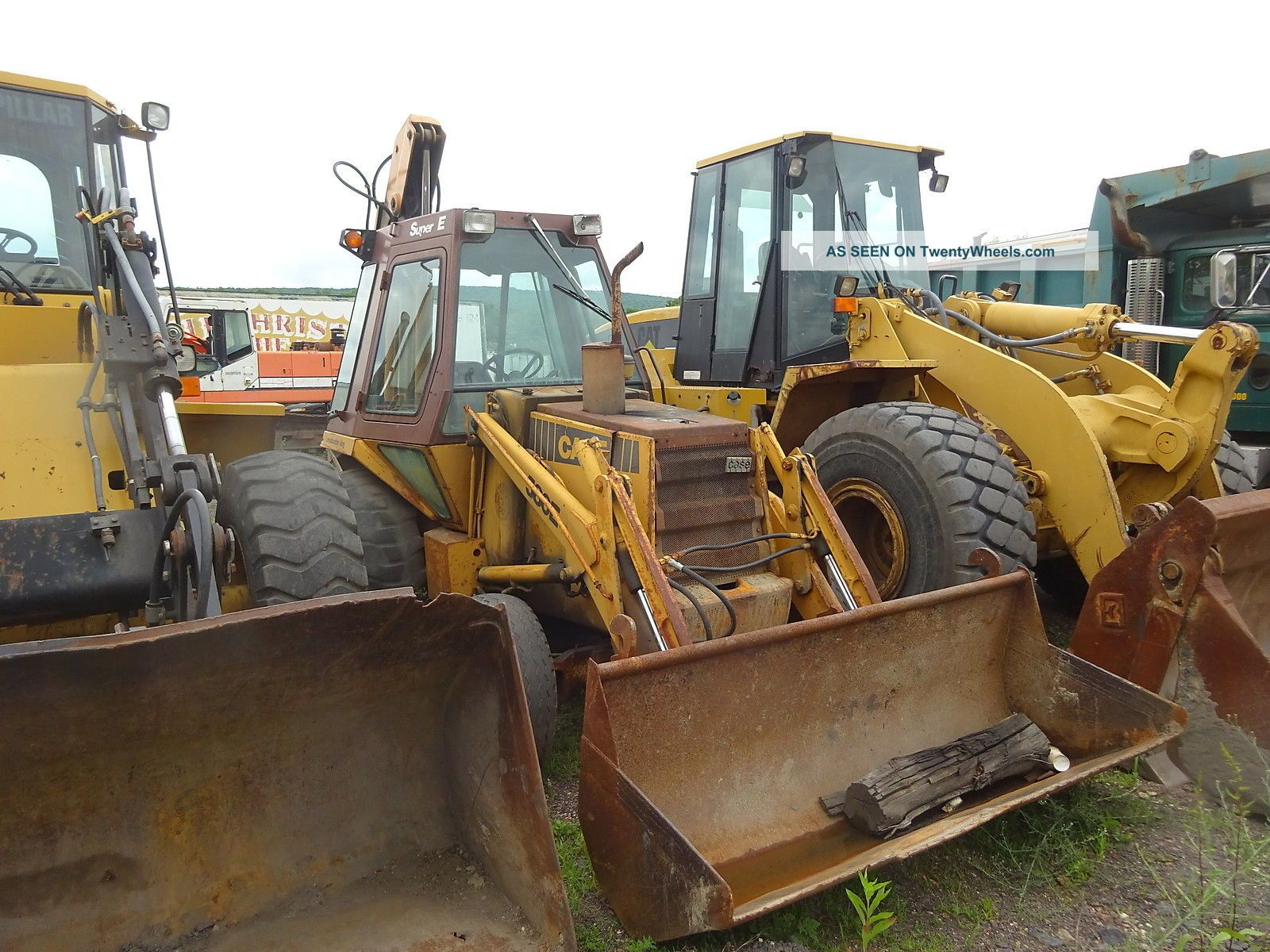 Case 580 E Loader Backhoe Extendahoe Cummins 3.  9 Dsl 580e 580se Backhoe Loaders photo