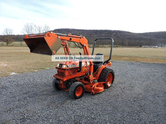 Small Tractors With Pto : Kubota b sub compact tractor loader mower