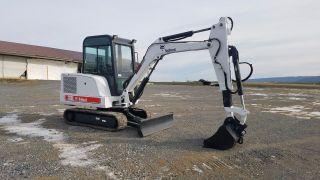 2000 Bobcat 331e Mini Excavator Track Hoe Blade Cab Extenda Hoe photo