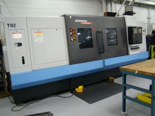 2010 Doosan Puma 480l Cnc Turning Center Lathe Fanuc 24