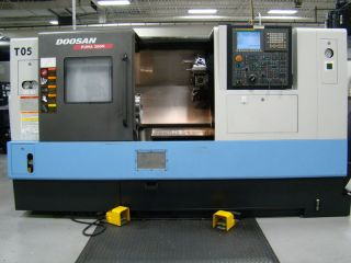 2012 Doosan Puma 300mc Cnc Turning Center Lathe Fanuc Live Tool Tailstock Daewoo photo