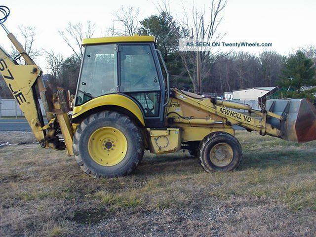 2000 Ford 675e 4 Wheel Drive Backhoe Loader Extendahoe Cab Machine Backhoe Loaders photo