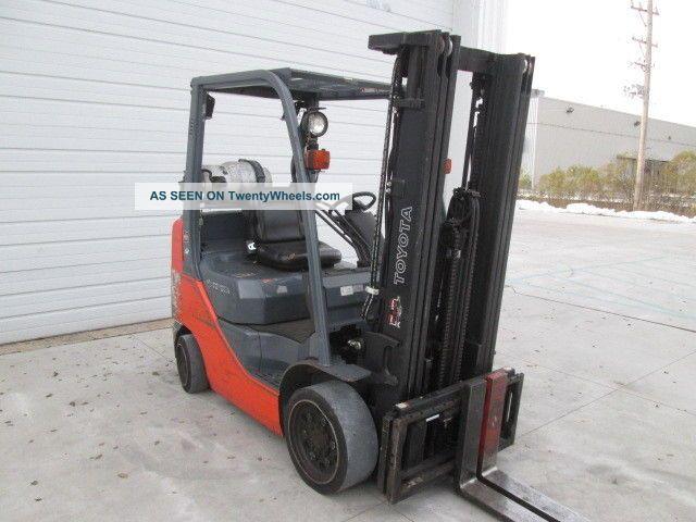 2011 Toyota 8fgcu25 5000 Lb Capacity Lp Gas Forklift 189