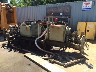 Early 1990 ' S Davey Kent Dk50 Hydraulic Drill Rig Approx.  15 ' Height On Tracks Wi photo