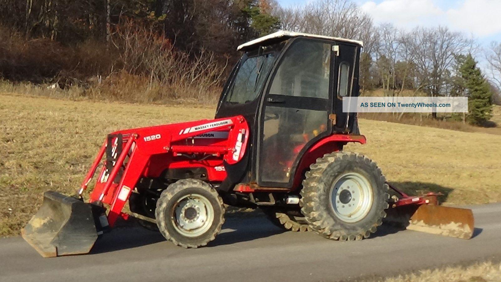 Massey Ferguson 65 Blade : Massey ferguson tractor with cab loader