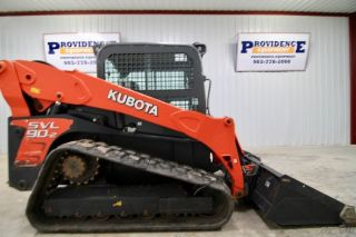 2014 Kubota Svl90 - 2hfc Skid Steer Track Loader,  Cab,  Ac/heat,  Only 830 Hrs photo