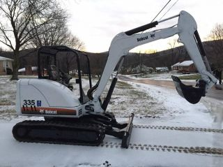 Bobcat 335 Midi Excavator Orops 1 Set Aux Hydralics Mini Rubber Track photo