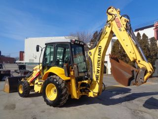 2010 Holland B95b Loader Backhoe - 4x4 - Enclosed Cab - Extendahoe photo