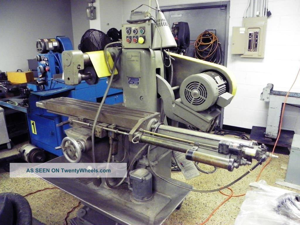 U.  S.  Burke D2 Horizontal Production Mill With Pneumatic Table Feed Milling Machines photo