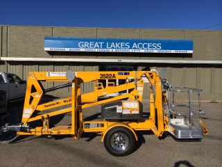 2017 Bil - Jax 3522a Towable Boom Lift Man 43' Height Unit,  Made In Usa photo