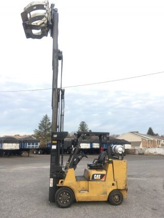 2009 Caterpillar Gc45kstr Forklift With Casacde Paper Roll Calmp photo