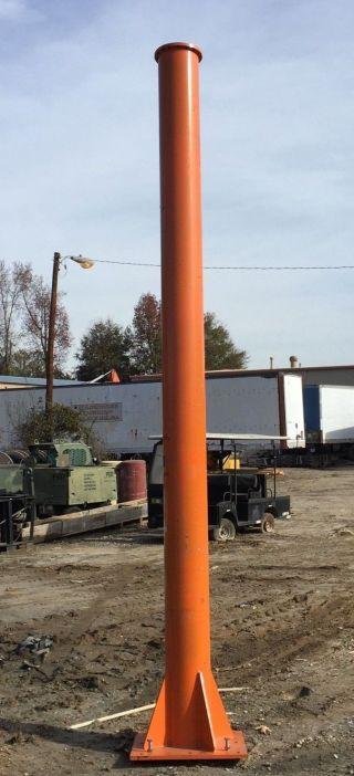 13 Ft Crane Support Post Orange Sign photo