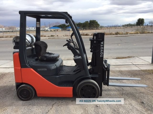 2007 Toyota 8fgcu20 Forklift - Truckers Mast W/ Side Shift Forklifts photo