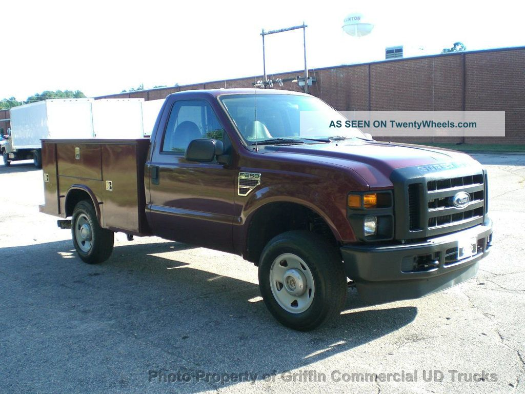 2008 ford f250 hd diesel 4x4 utility service just 39k miles 6 4 diesel four wheel drive. Black Bedroom Furniture Sets. Home Design Ideas