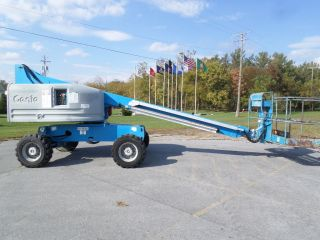 Genie S40 40 ' Boom Lift 40ft Man Lift Manlift Straight Stick Boomlift Man Basket photo