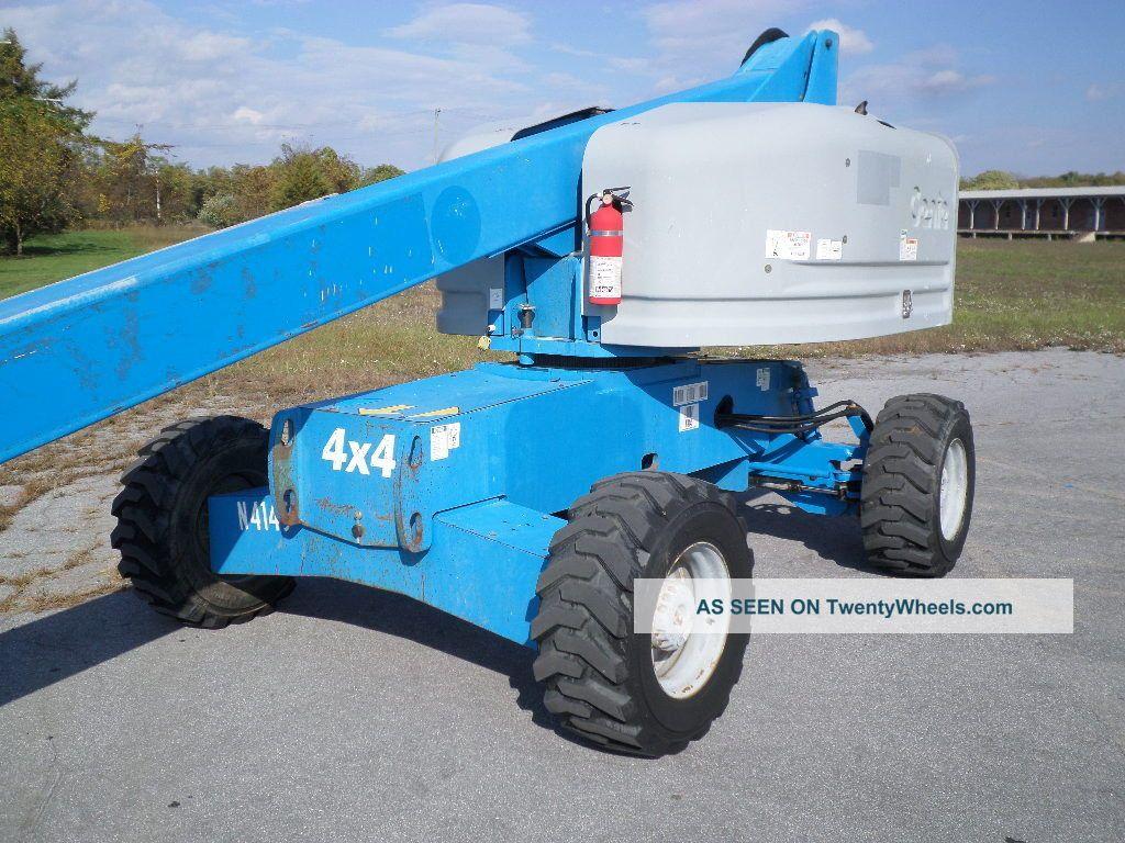 Single Man Lift 40 Ft : Genie s boom lift ft man manlift straight