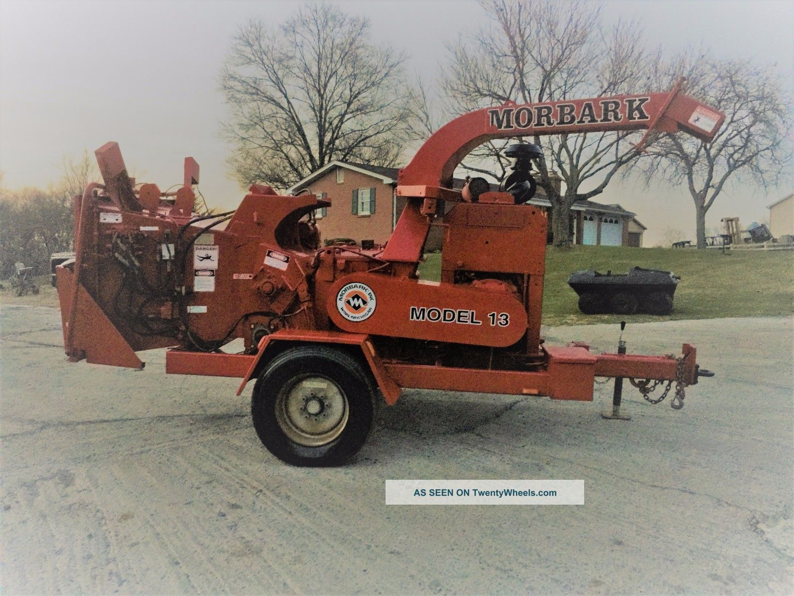Morbark 15 Tornado Wood Chipper Brush Drum Chipper Disk Mulcher Jd 140 Hp Wood Chippers & Stump Grinders photo