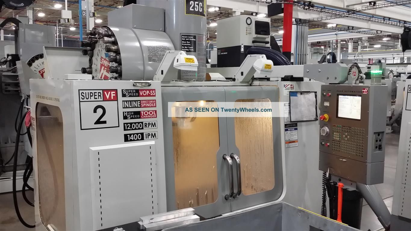 Haas Vf - 2ss Cnc Vertical Machining Center Mill 12,  000 Rpm 24 Atc Vmc 2006 Milling Machines photo