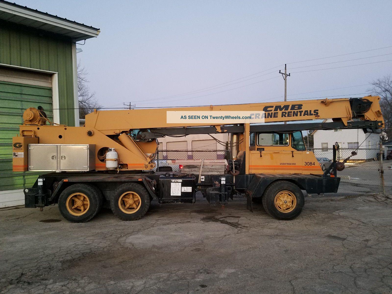 Grove Tms522 Truck Hydraulic Crane Cranes photo