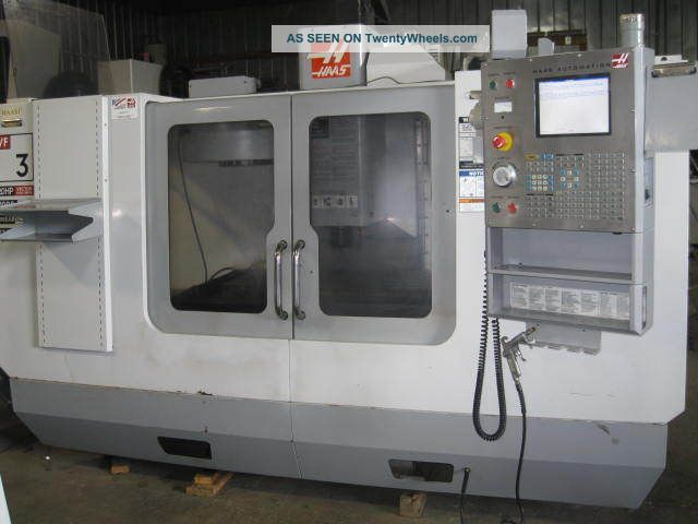 Haas 2005 Vf - 3 Vmc 40 X 20,  20hp,  Chip Auger,  Cool Thru,  16 Mb,  Reduced Milling Machines photo