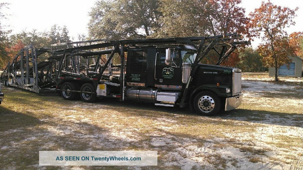 2007 Western Star & Cottrell 4900 Lowmax,  3 Car Rack And 7510 Cottrell Trailer Sleeper Semi Trucks photo