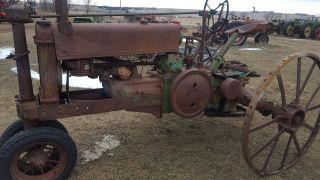 1935 John Deere Model A 2 Cylinder Tractor Sells photo