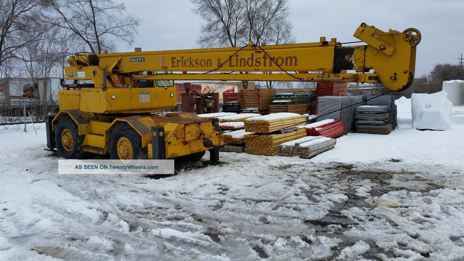 Grove Rt60s Rough Terrain Crane – 18 Ton Cranes photo