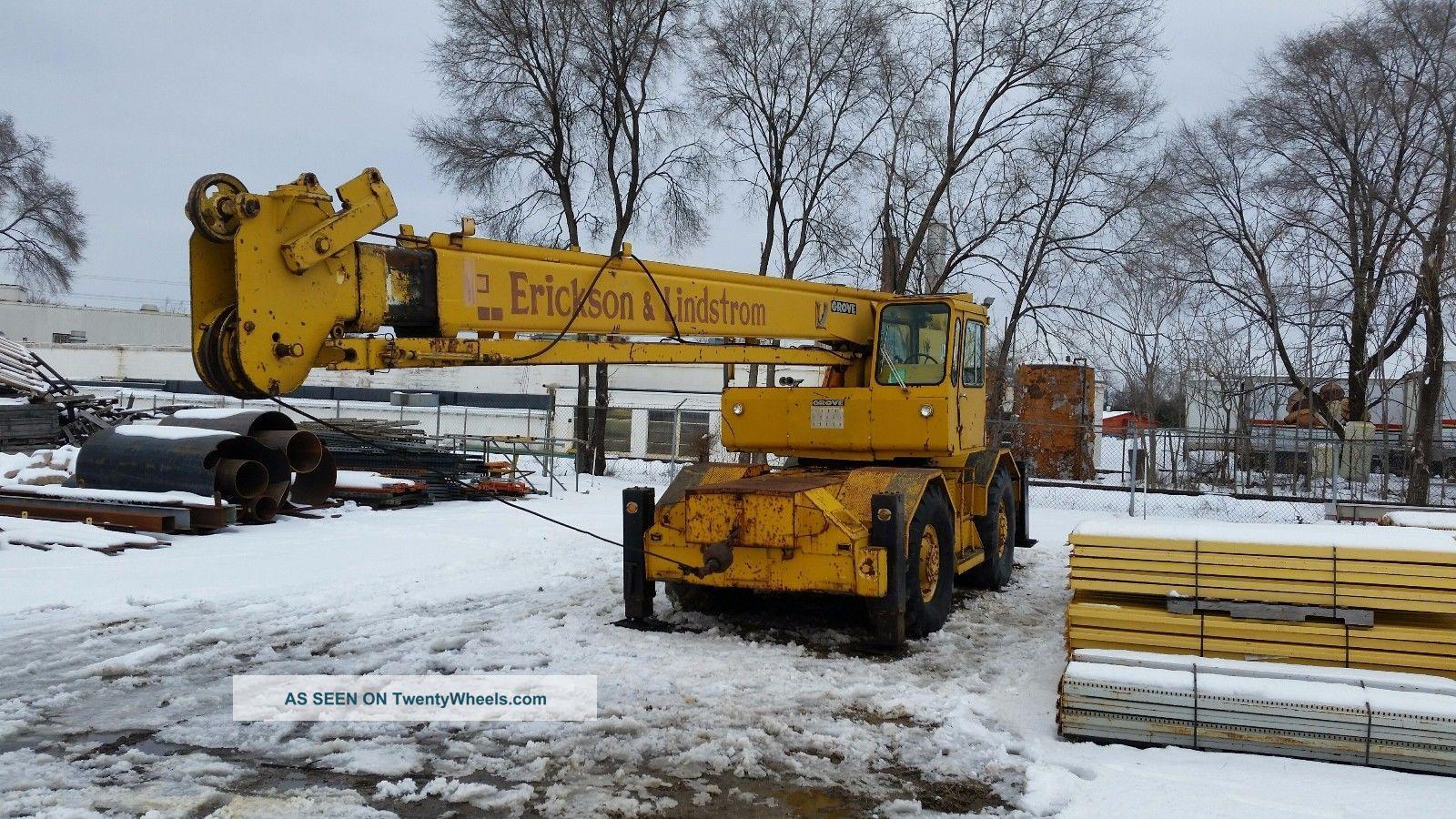Rough Terrain Crane Application : Grove rt s rough terrain crane ton
