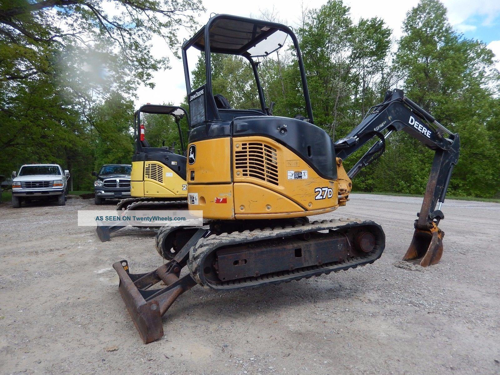 2008 John Deere 27d Mini Excavator Diesel Job Sight Ready Shape Low Hour Excavators photo