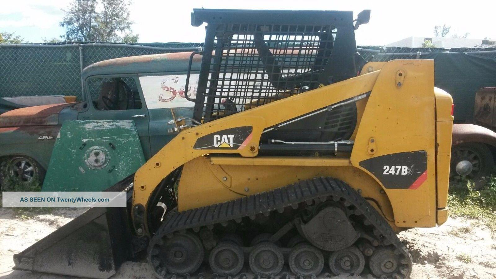 Caterpillar 247b Rubber Track Skid Steer Loader Bobcat Diesel Pilot Controls Crawler Dozers & Loaders photo