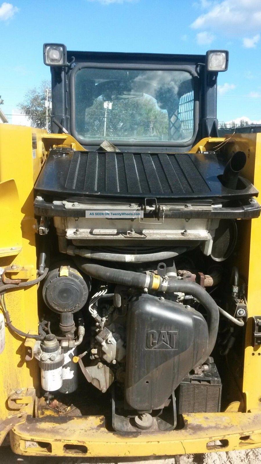 Skid Steer Controls : Caterpillar b rubber track skid steer loader bobcat