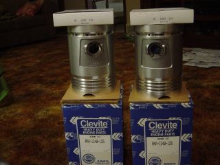 Clevite John Deere Late A And 60 Pistons,  Rings,  Pins And Clips Rebore.  125 photo