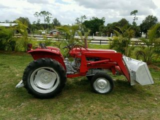 Massey Ferugson 240 Tractor 4x4 With A 232 Loader 3 Point Hitch photo