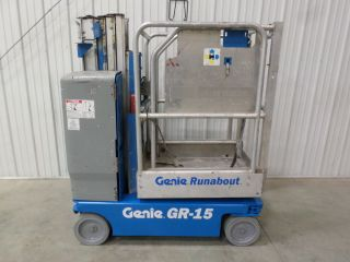 2009 Genie Gr - 15 Personal Runabout Aerial Work Platform Gr15 Single Man Lift photo