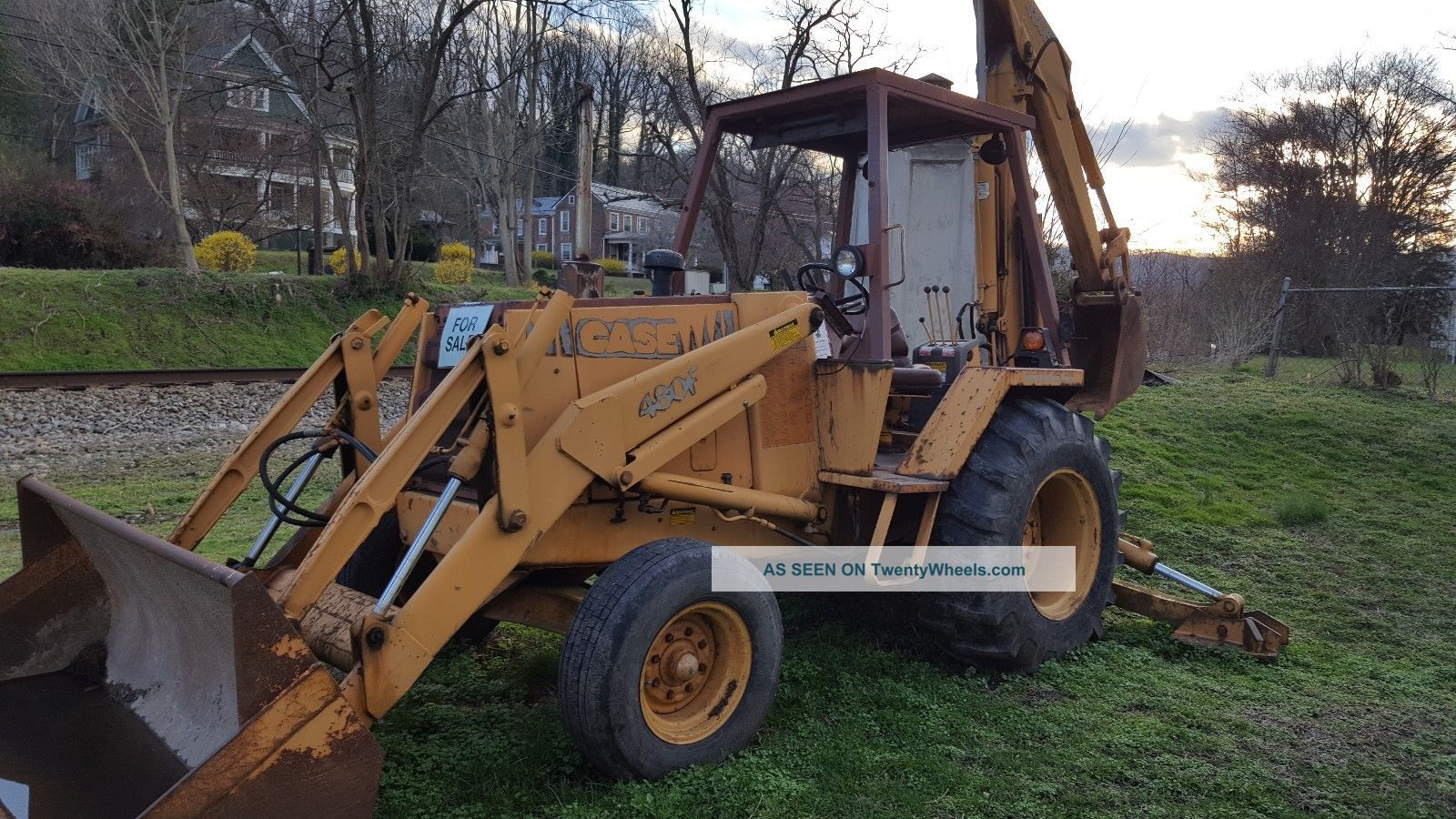 Don ' T Miss This 1 Owner Case 480f Rubber Tire Backhoe,  Diesel, ,  L@@k Backhoe Loaders photo