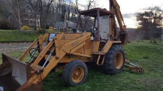 Don ' T Miss This 1 Owner Case 480f Rubber Tire Backhoe,  Diesel, ,  L@@k photo