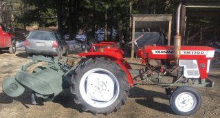 Yanmar Tractor With Rototiller,  Pto And 3 Point Hitch photo