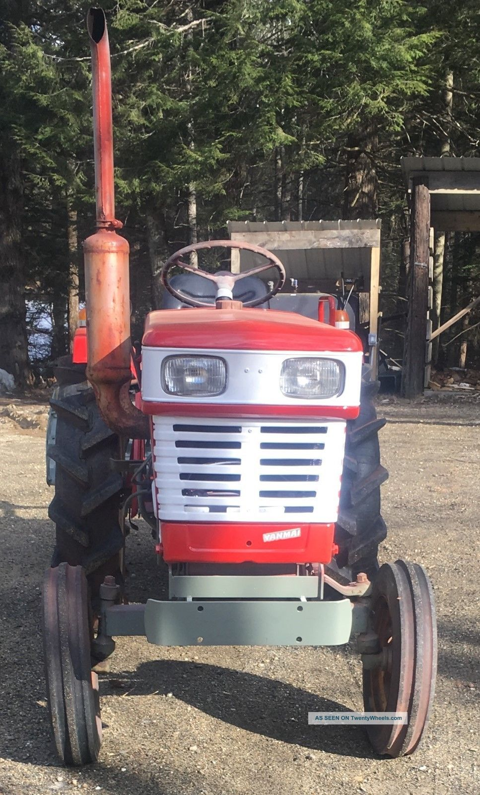 Yanmar Tractor Pto : Yanmar tractor with rototiller pto and point hitch