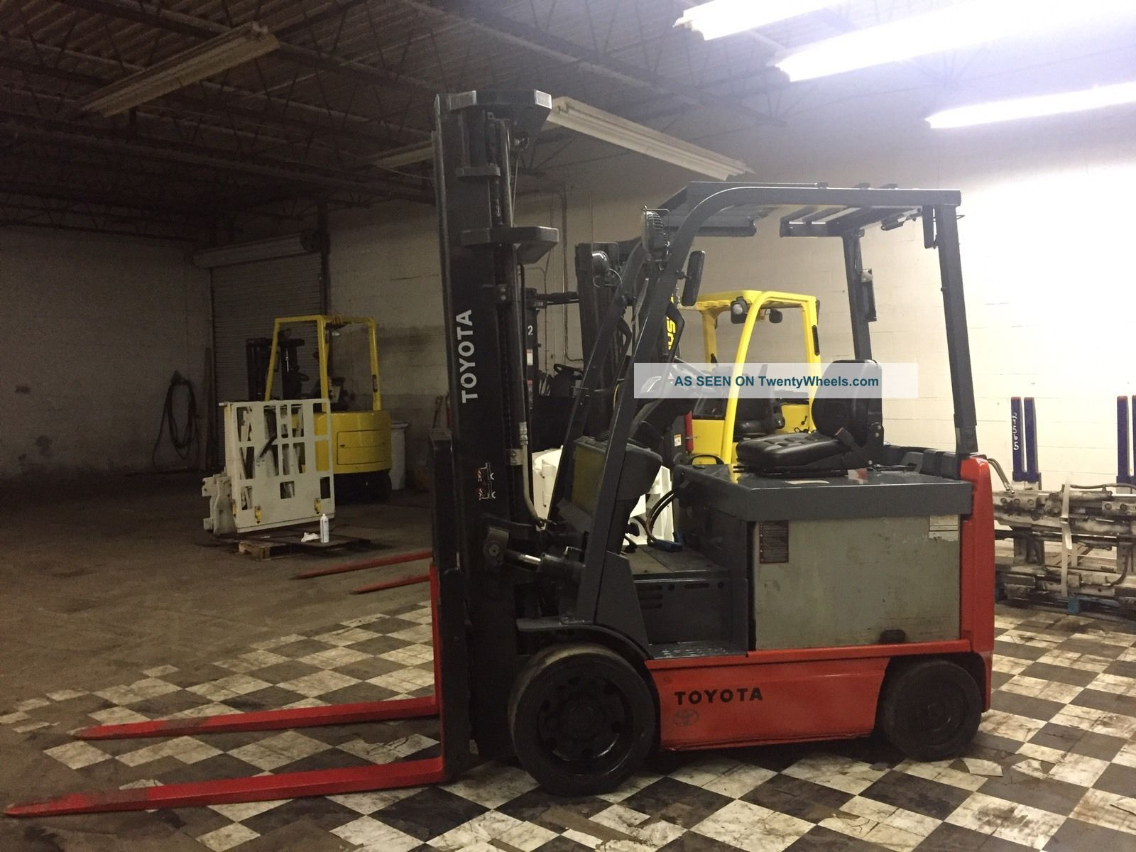 2010 Toyota 6000 Pound Electric Forklift Side Shift And Fork Positioner 4 Ways Forklifts photo