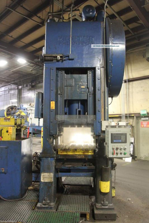 200 Ton Minster S1 - 200 - 30 - 36 Straight Side Single Crank Press,  S/n 23149 Punch Presses photo