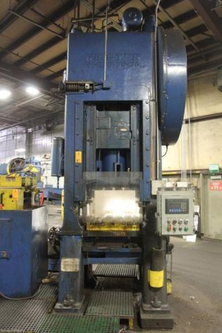 200 Ton Minster S1 - 200 - 30 - 36 Straight Side Single Crank Press,  S/n 23149 photo