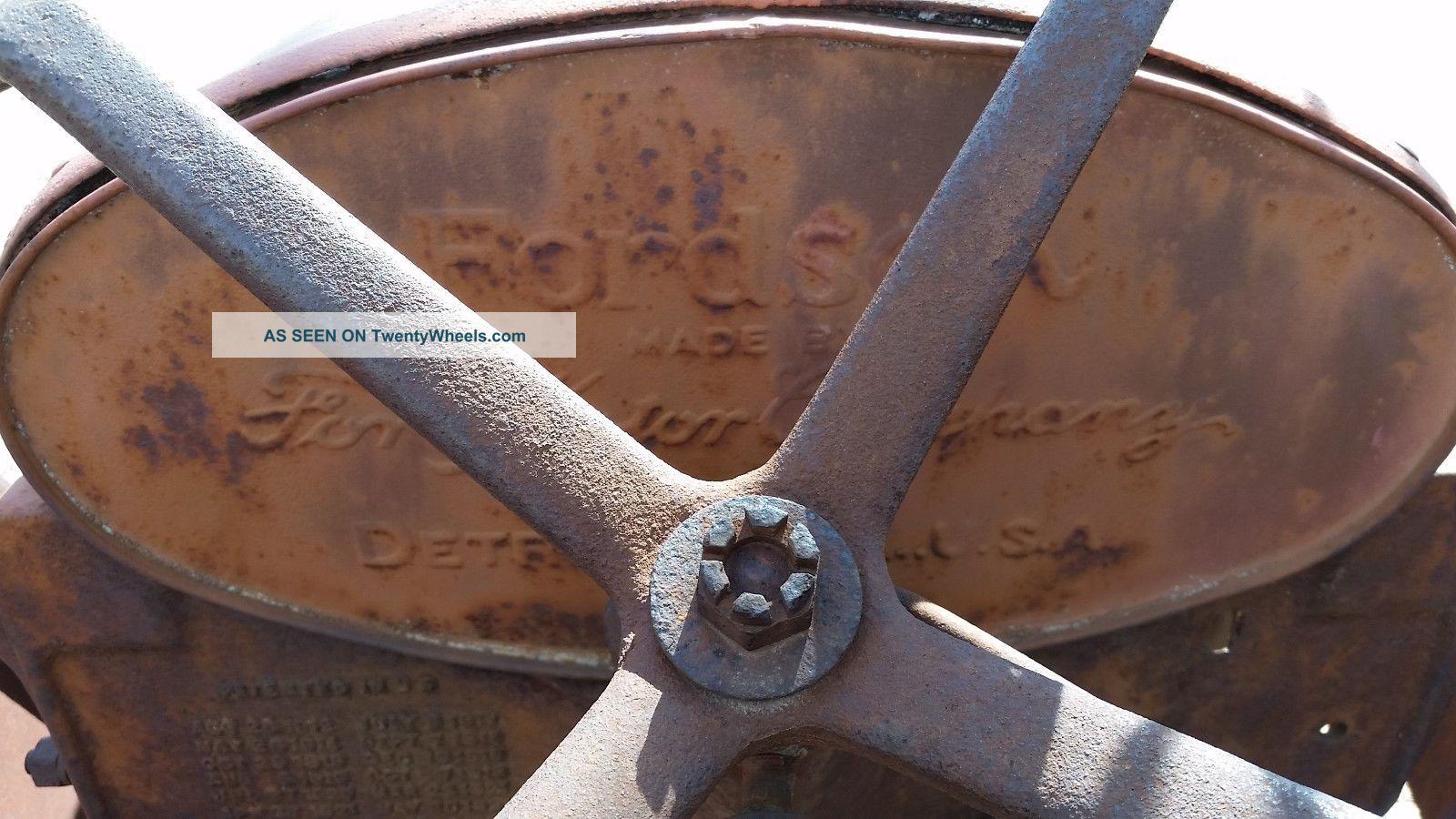 Antique Tractor Steel Wheels : Antique vintage tractor fordson steel wheel
